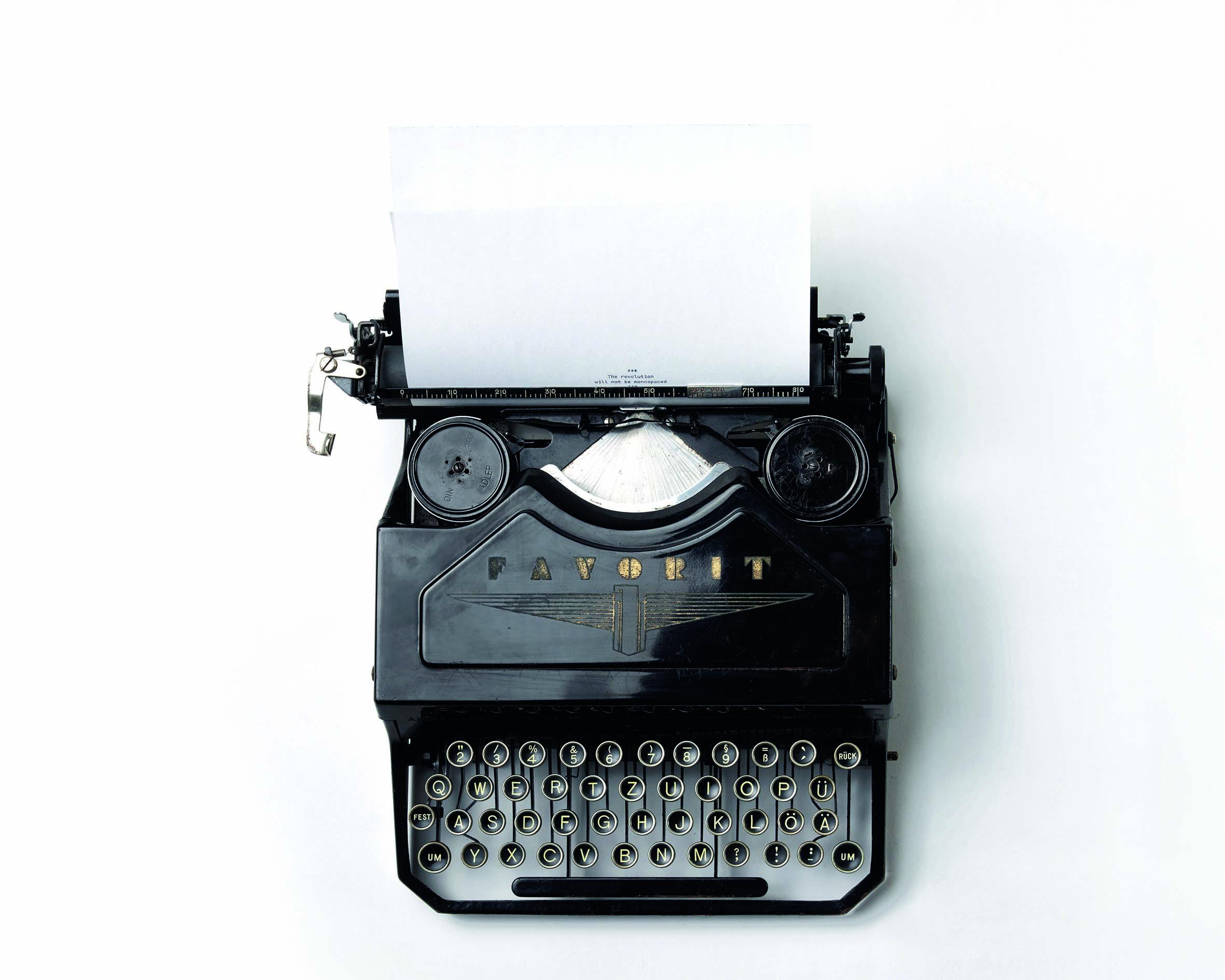 Schreibmaschine Motivationsschreiben