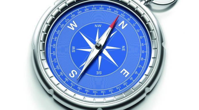 Ein alter Kompass
